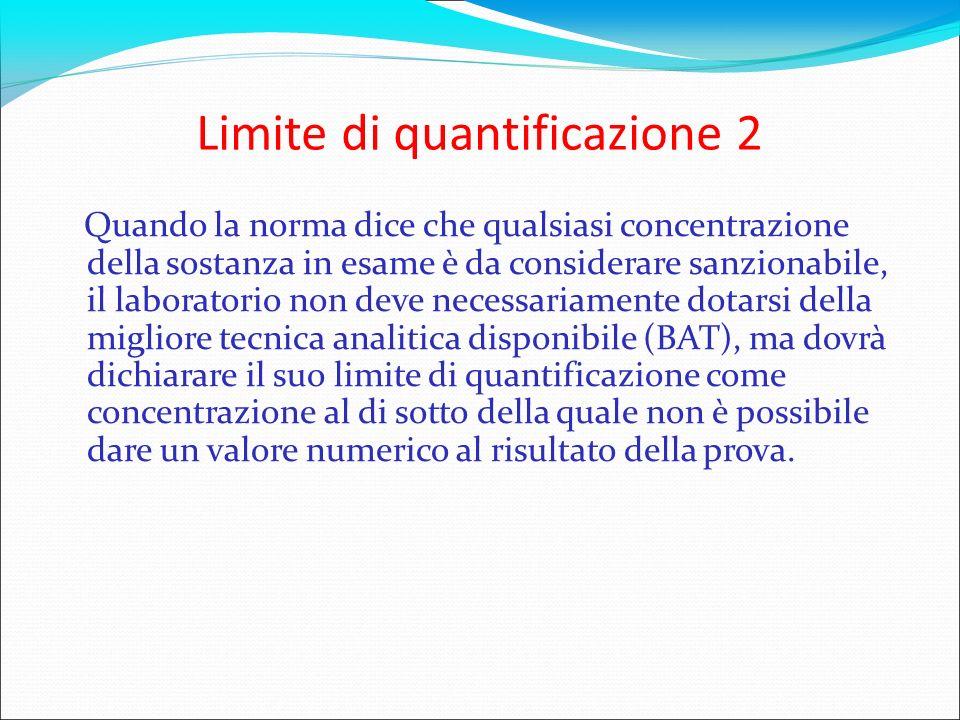 Limite di quantificazione 2