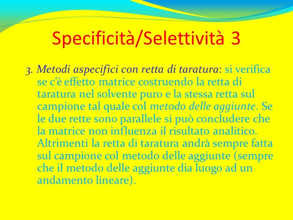 Specificità/Selettività 3