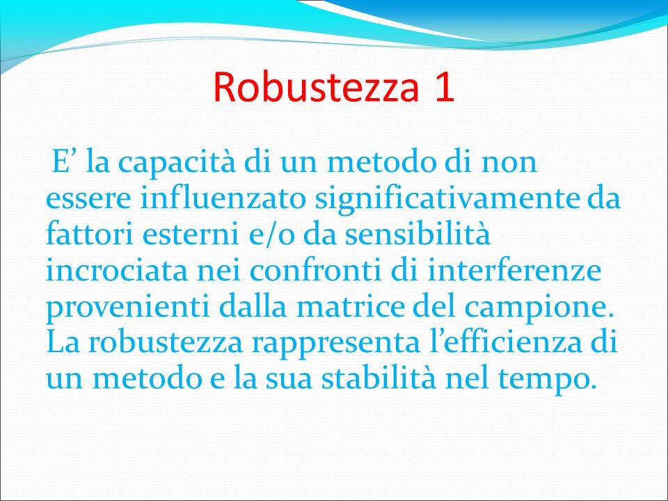Robustezza 1