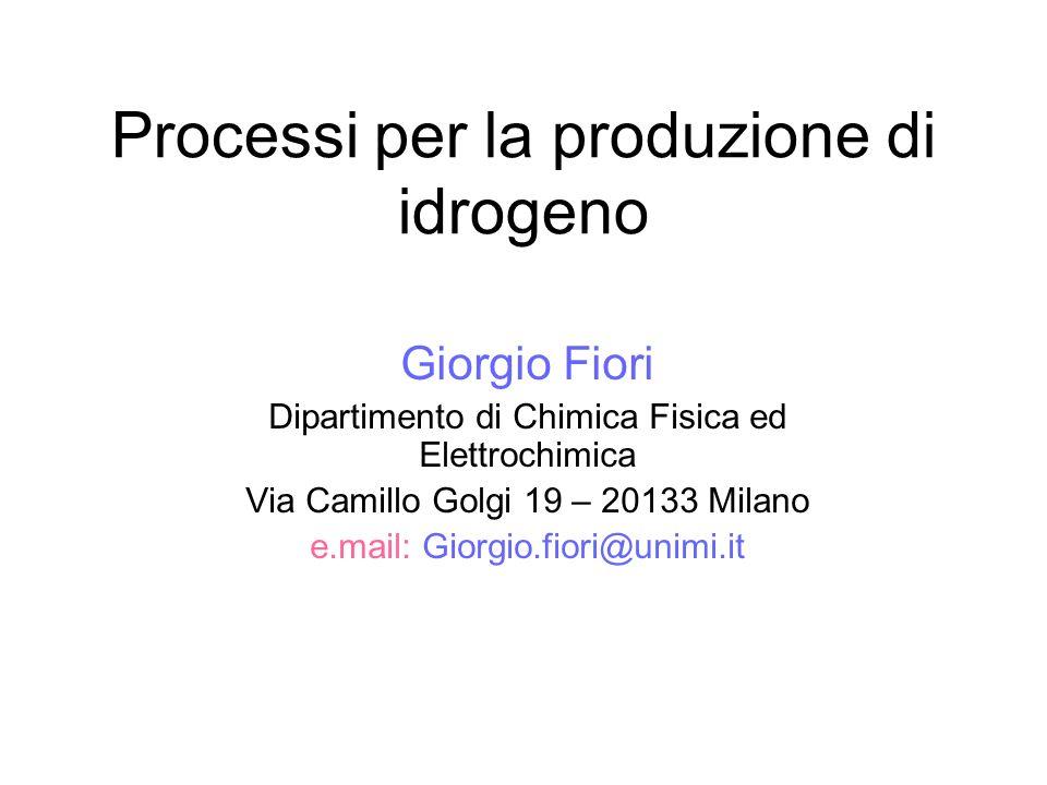 Processi per la produzione di idrogeno