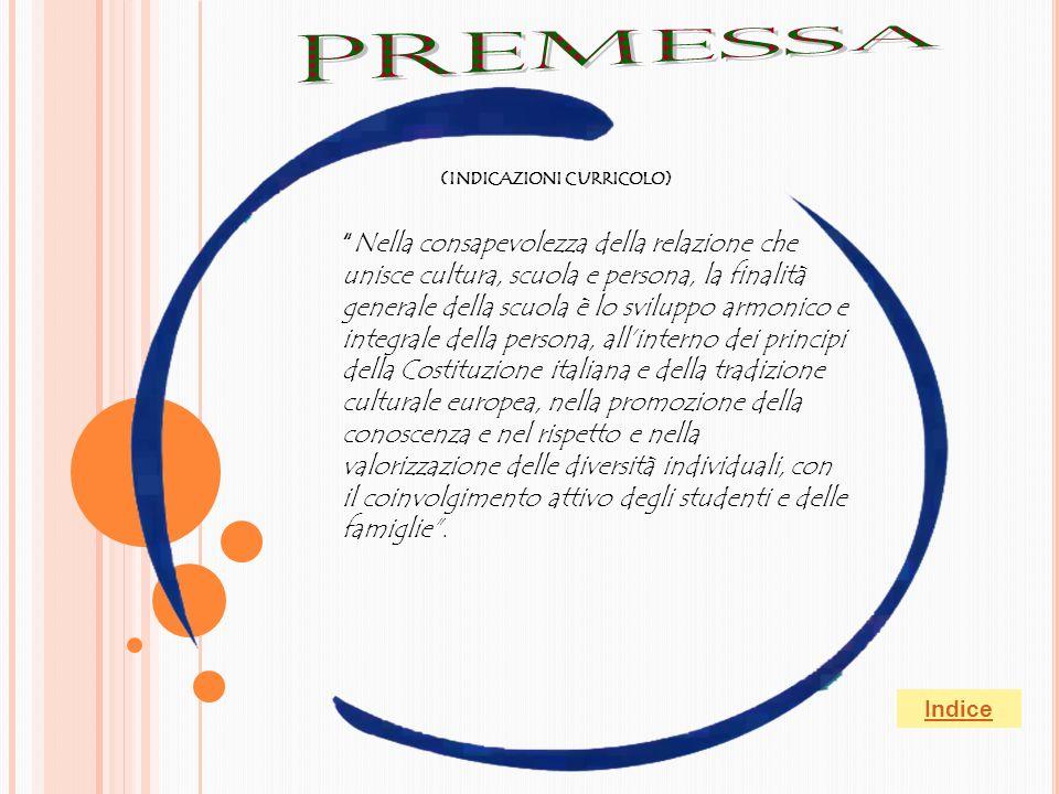 PREMESSA (INDICAZIONI CURRICOLO)