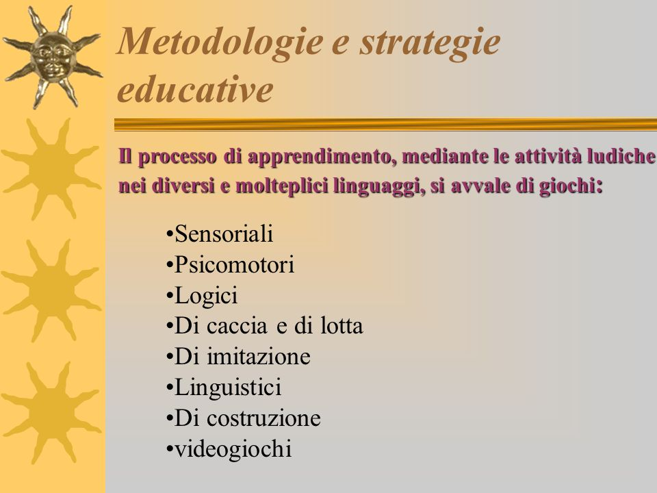 Metodologie e strategie educative