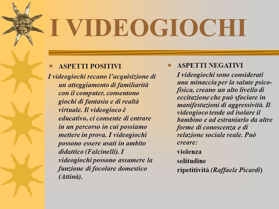 I VIDEOGIOCHI ASPETTI POSITIVI