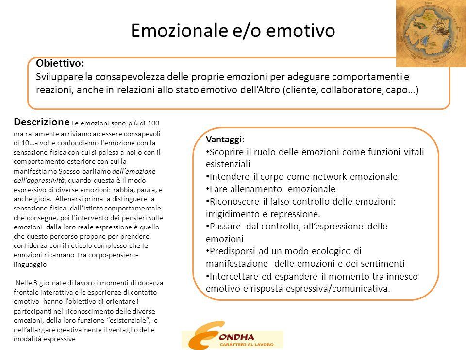 Emozionale e/o emotivo