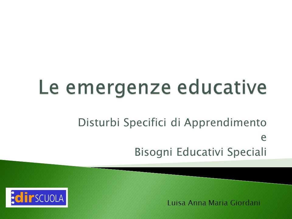 Le emergenze educative