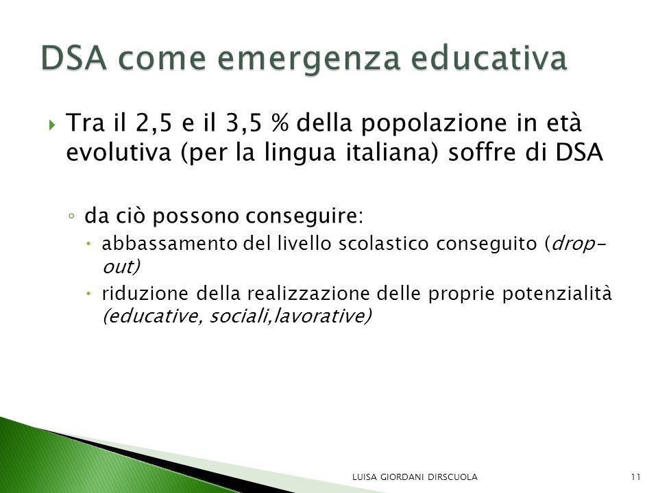 DSA come emergenza educativa