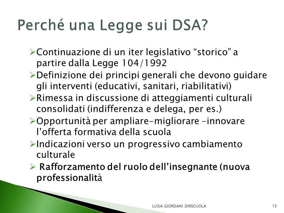 Perché una Legge sui DSA
