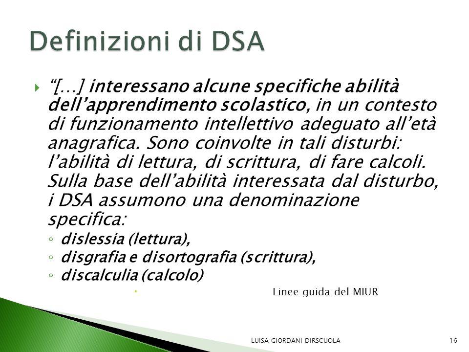 Definizioni di DSA
