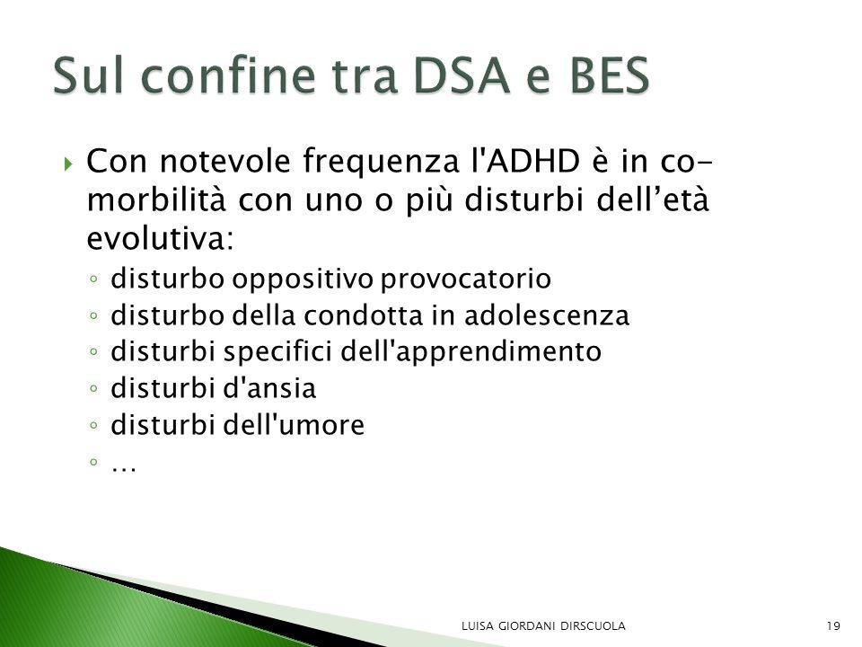 Sul confine tra DSA e BES