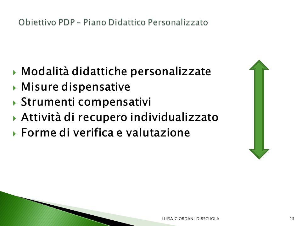 Obiettivo PDP – Piano Didattico Personalizzato