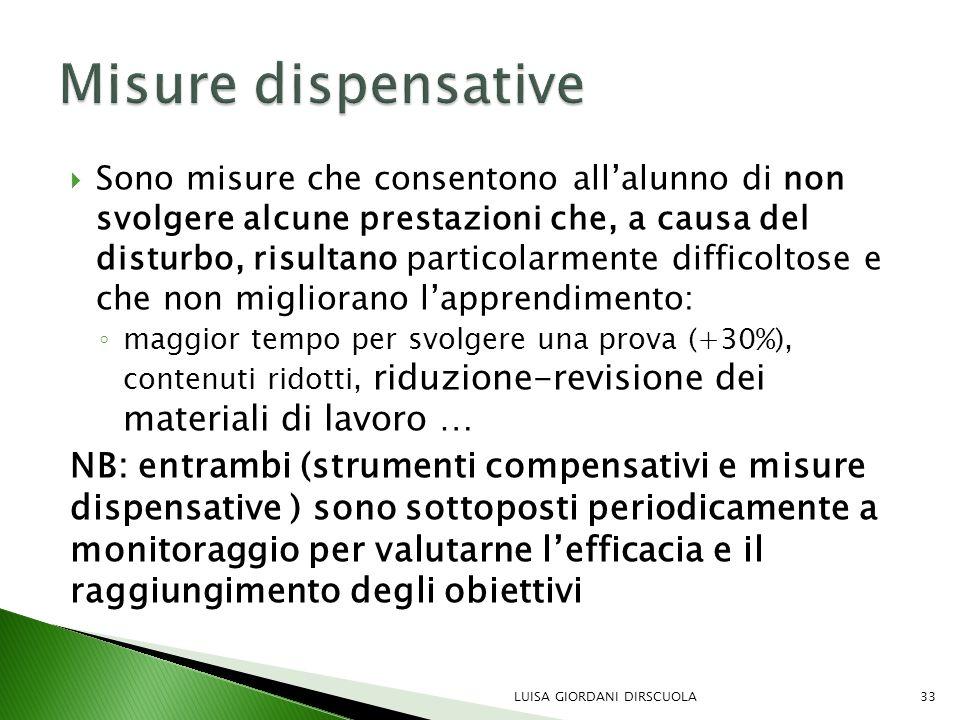 Misure dispensative