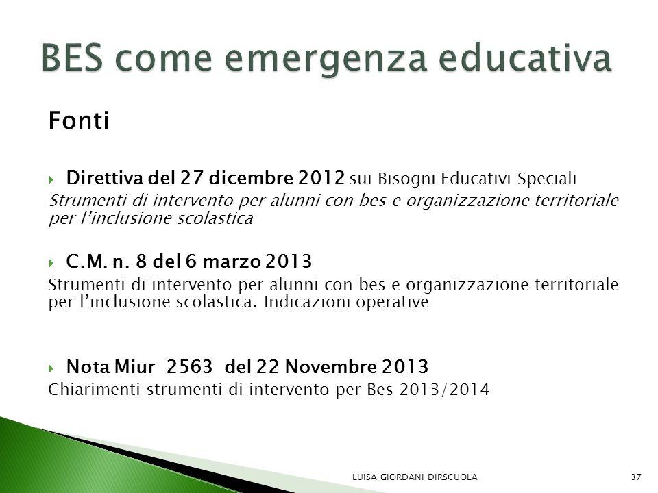 BES come emergenza educativa