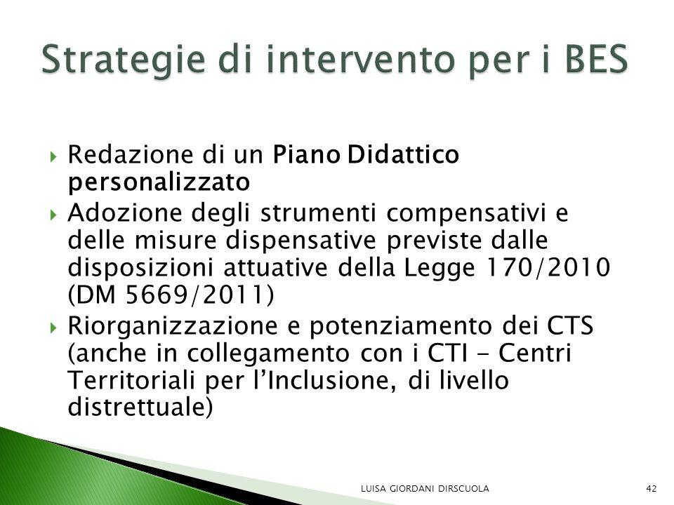 Strategie di intervento per i BES
