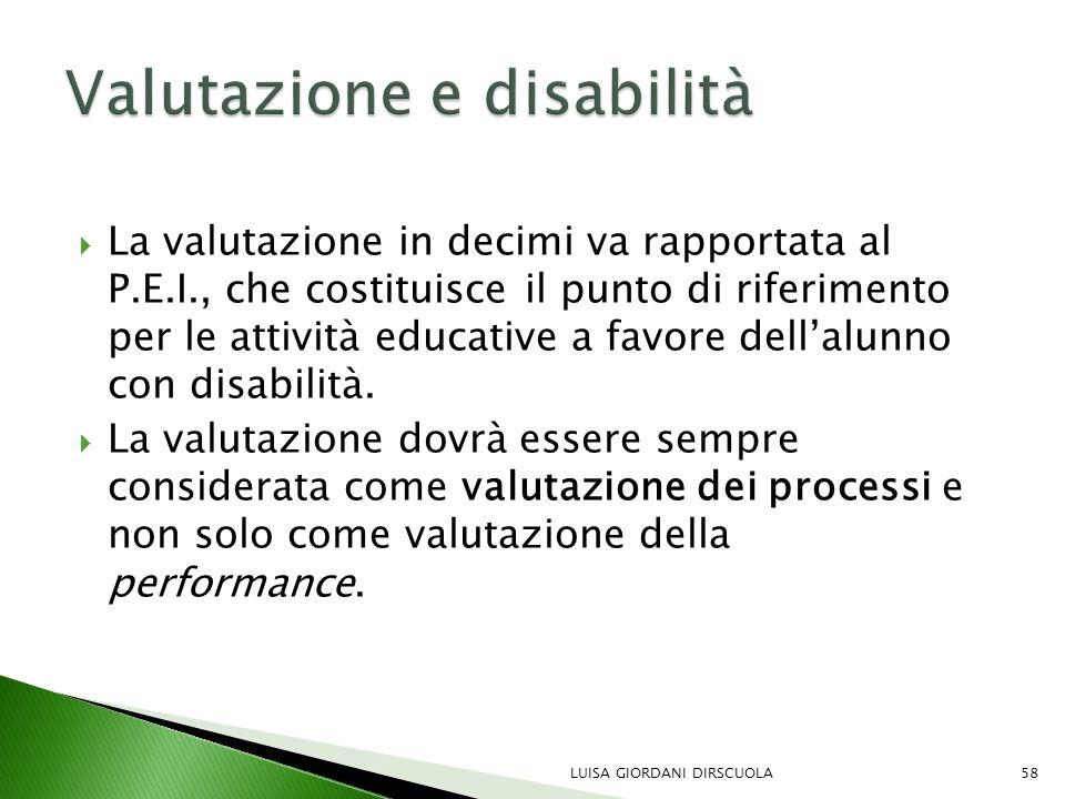 Valutazione e disabilità
