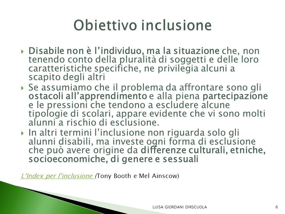 Obiettivo inclusione