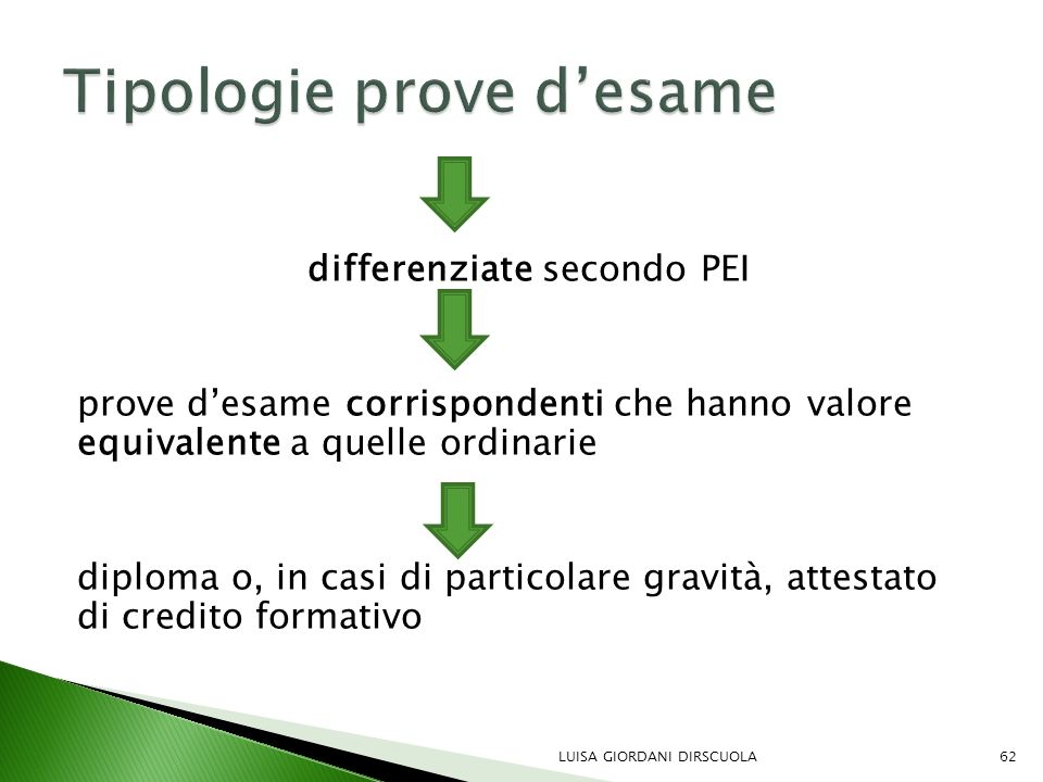 Tipologie prove d'esame