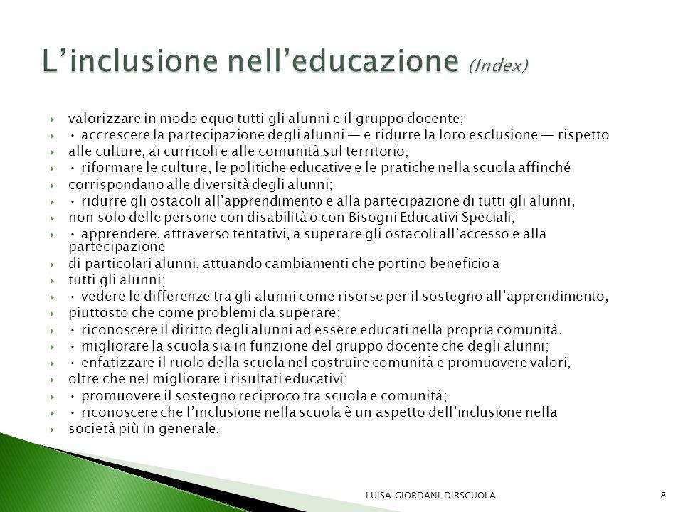 L'inclusione nell'educazione (Index)