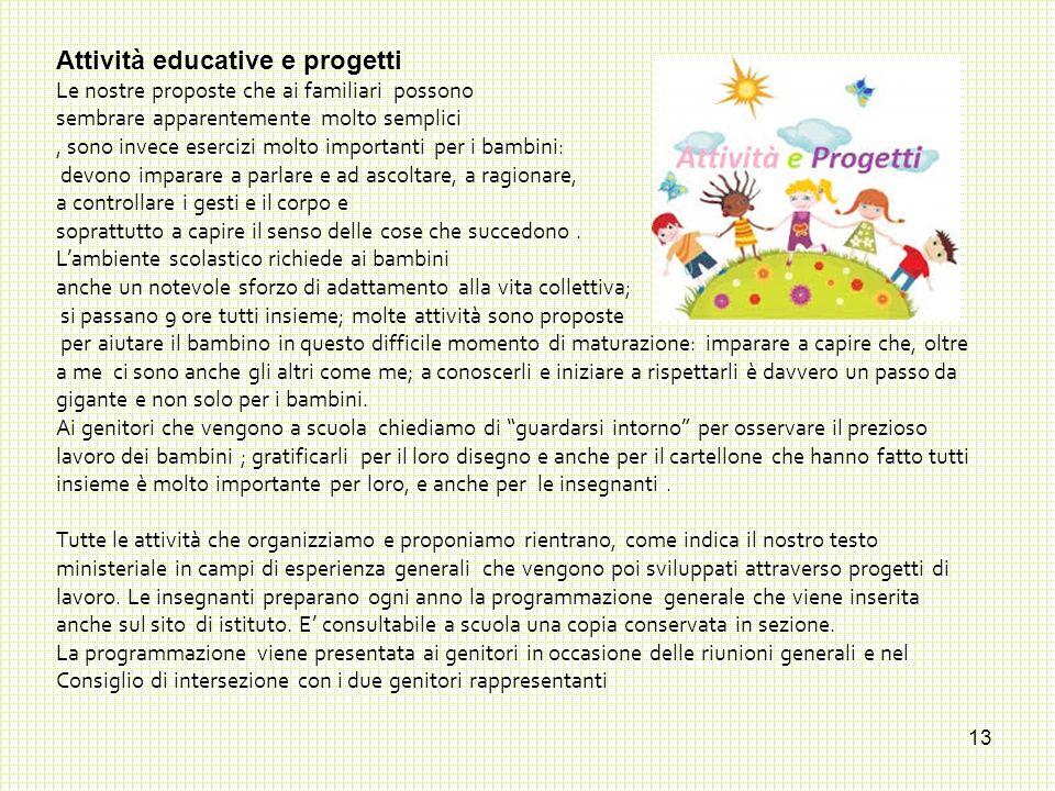 Attività educative e progetti