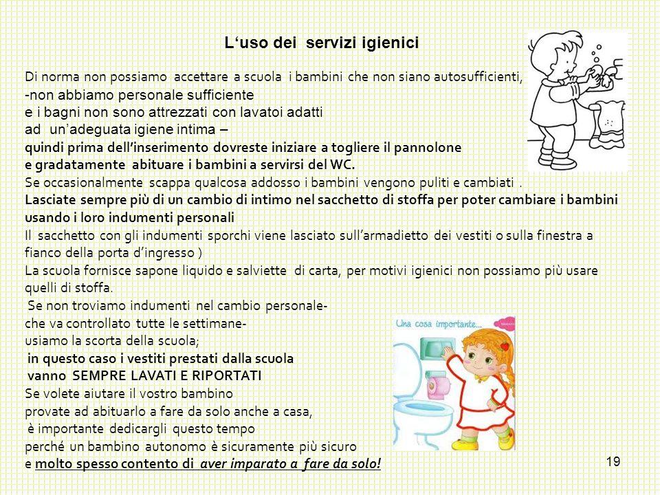 L'uso dei servizi igienici