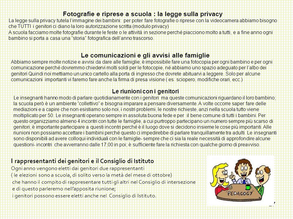 Fotografie e riprese a scuola : la legge sulla privacy