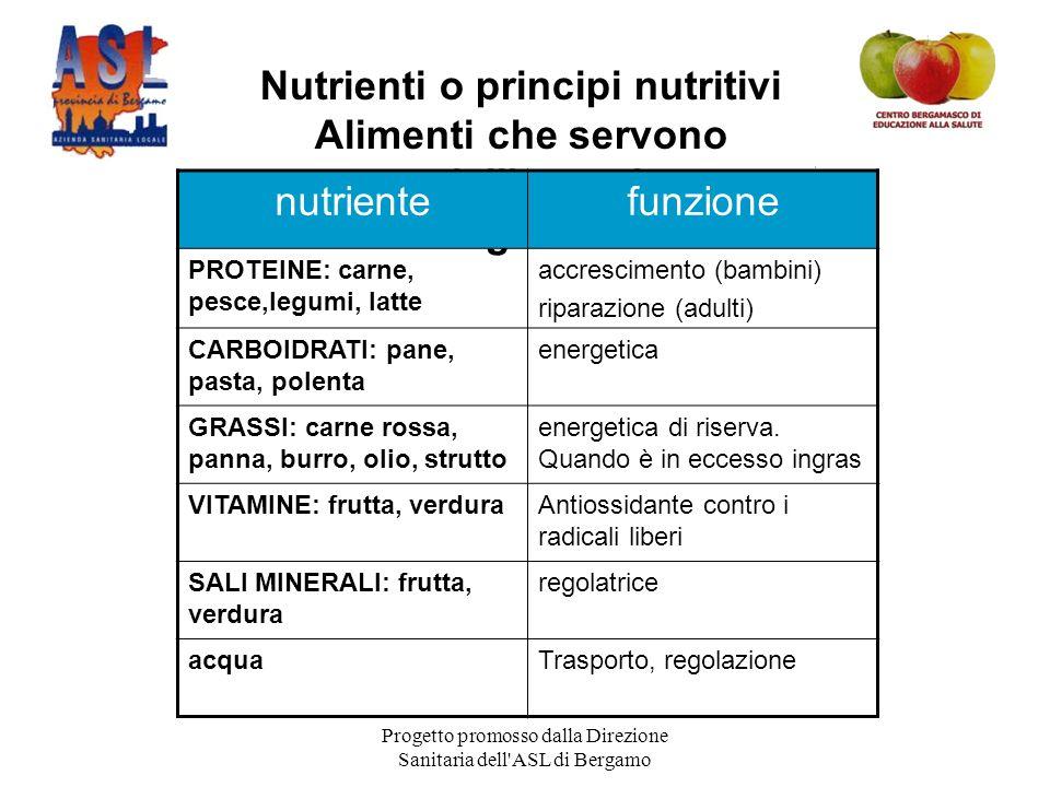 Nutrienti o principi nutritivi