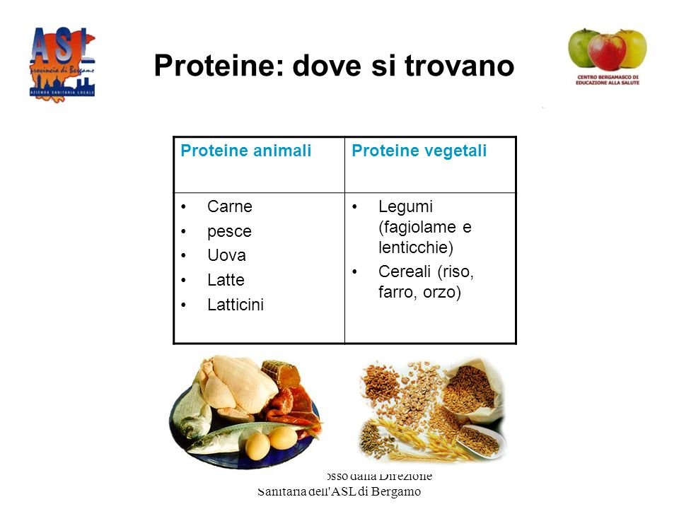 Proteine: dove si trovano