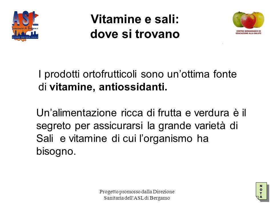 Vitamine e sali: dove si trovano
