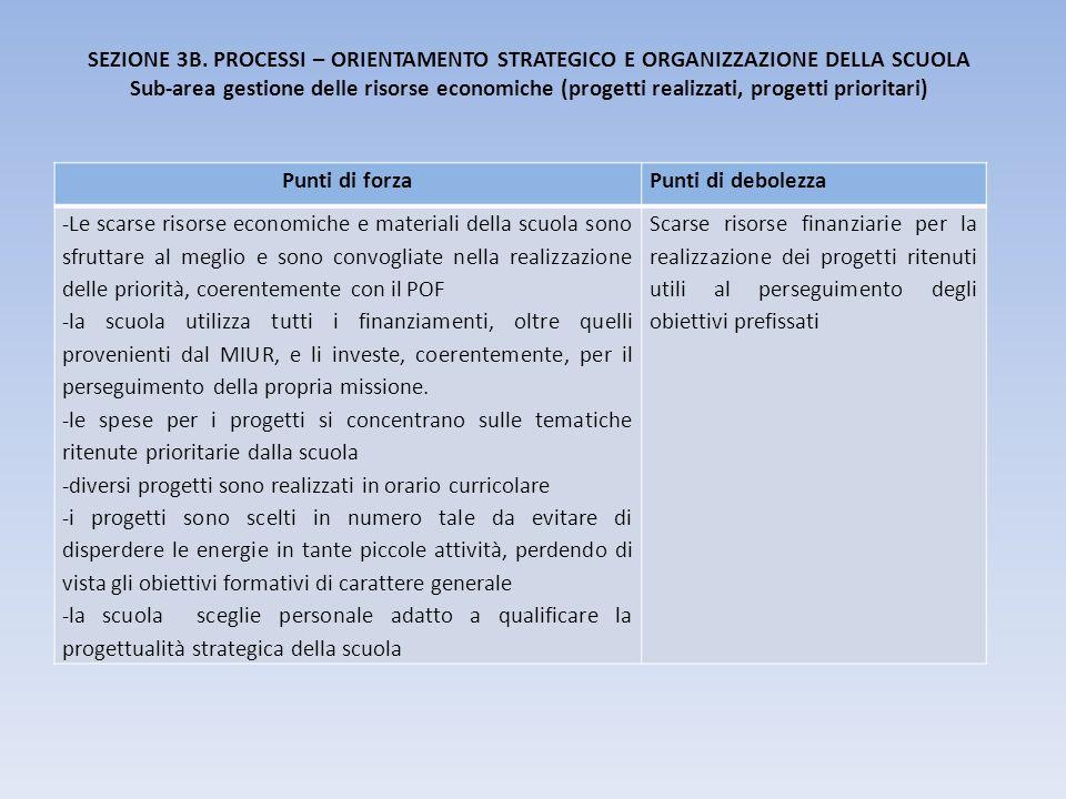 SEZIONE 3B. PROCESSI – ORIENTAMENTO STRATEGICO E ORGANIZZAZIONE DELLA SCUOLA