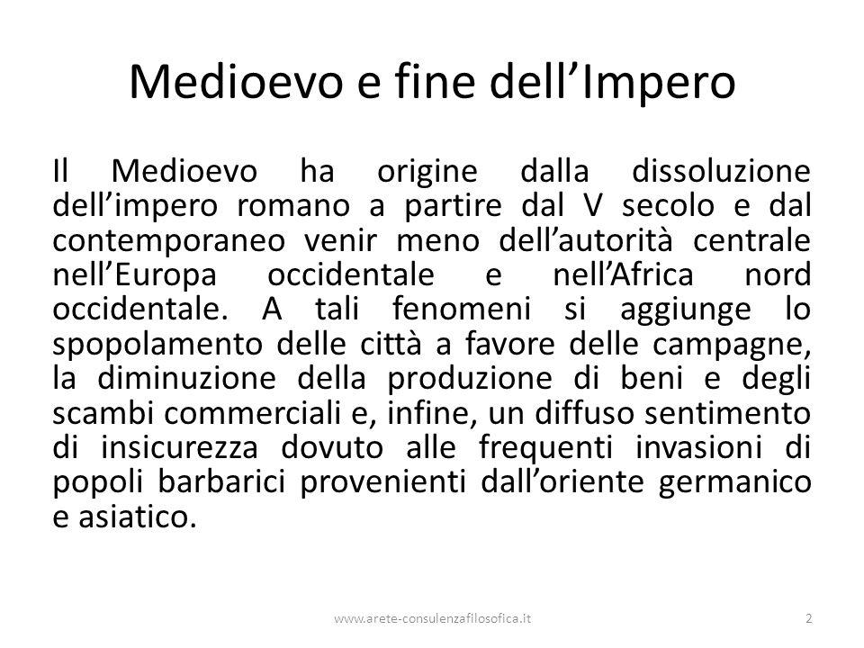 Medioevo e fine dell'Impero