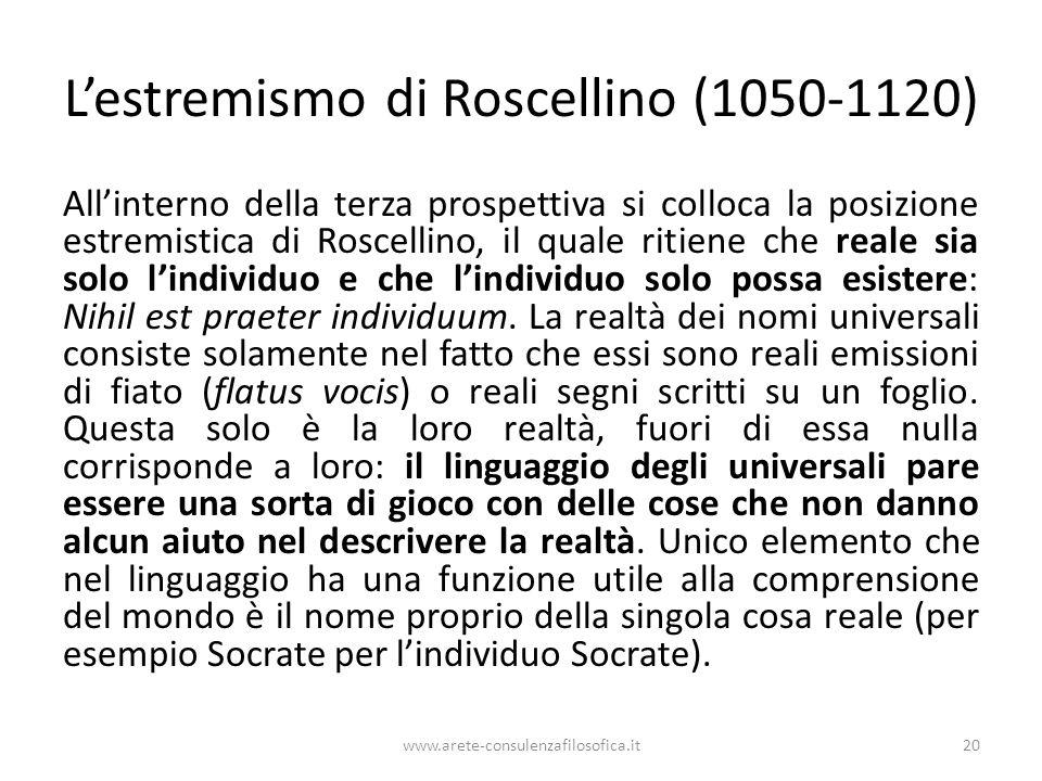 L'estremismo di Roscellino (1050-1120)