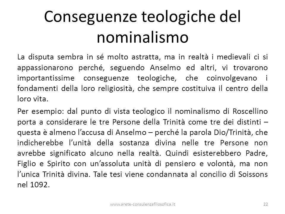 Conseguenze teologiche del nominalismo