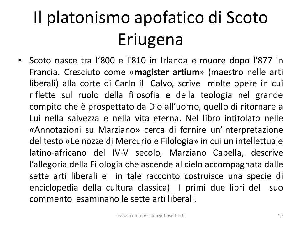 Il platonismo apofatico di Scoto Eriugena