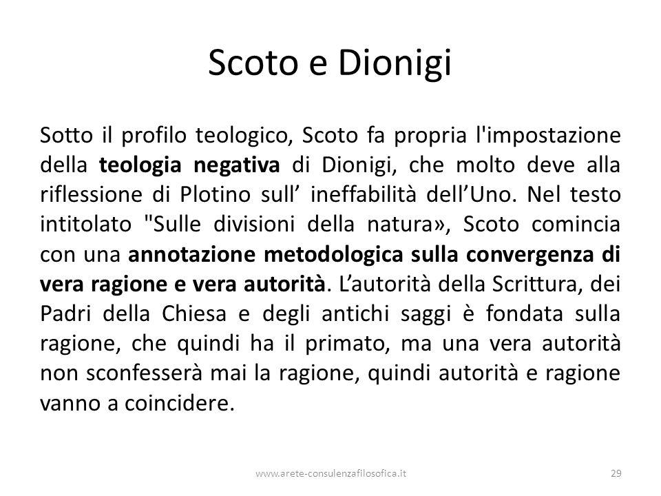 Scoto e Dionigi