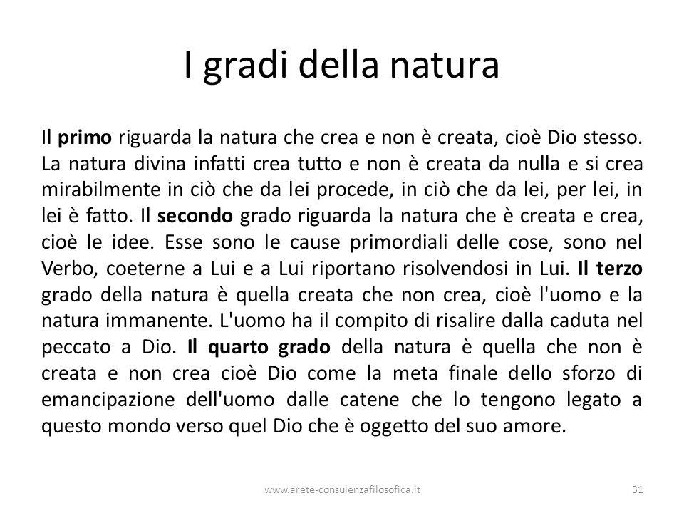 I gradi della natura