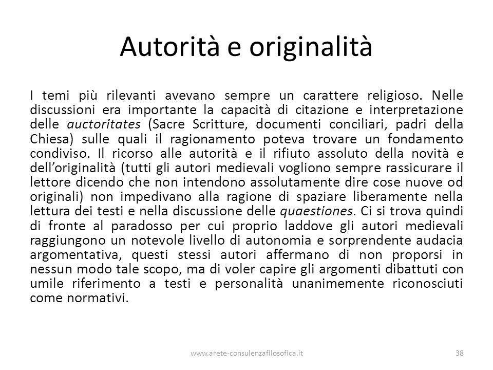 Autorità e originalità