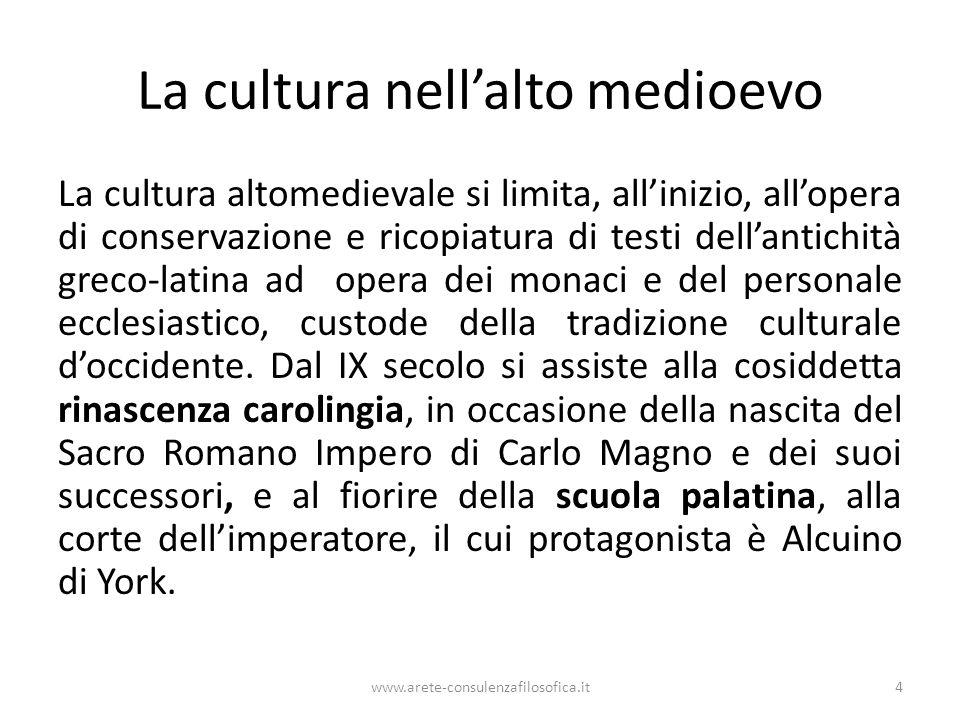 La cultura nell'alto medioevo