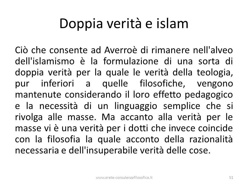 Doppia verità e islam