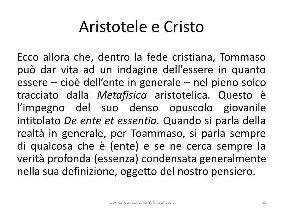 Aristotele e Cristo