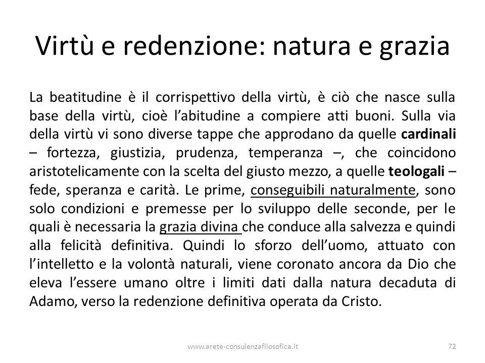 Virtù e redenzione: natura e grazia