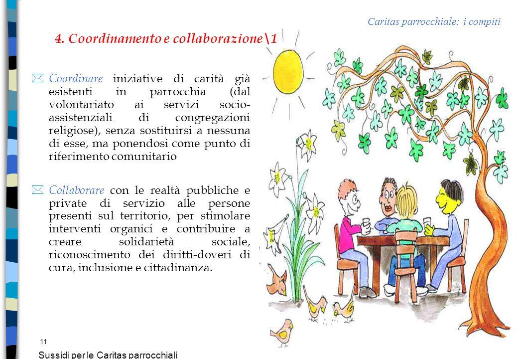 Sussidi per le Caritas parrocchiali