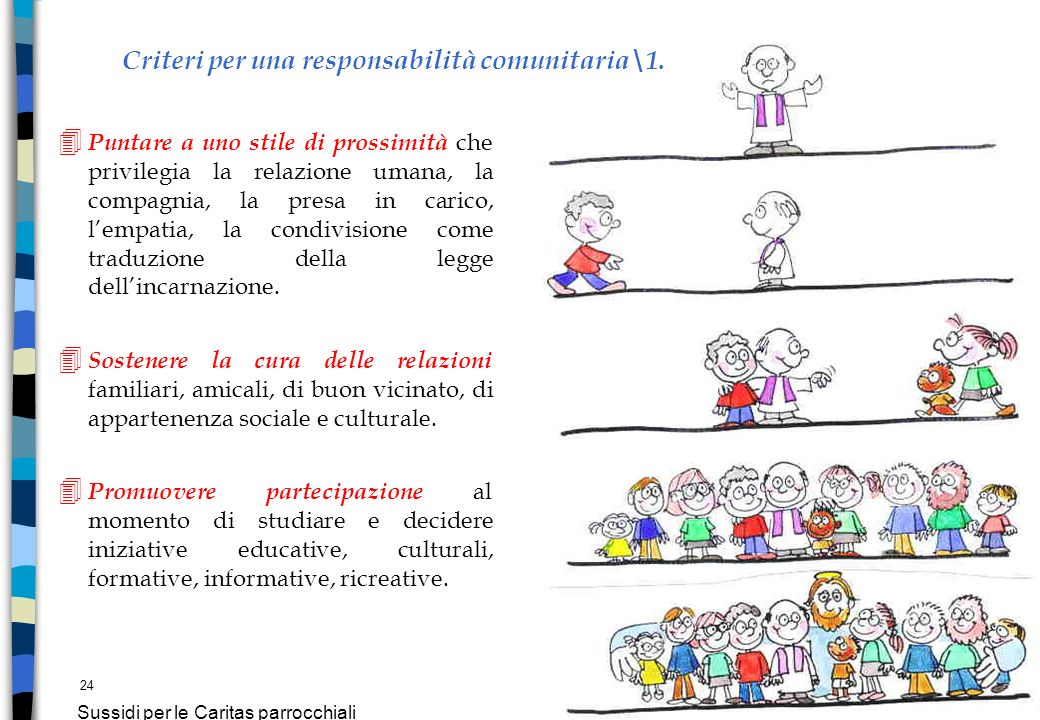 Criteri per una responsabilità comunitaria\1.