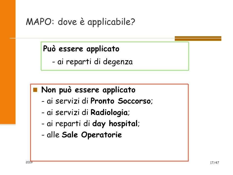 MAPO: dove è applicabile