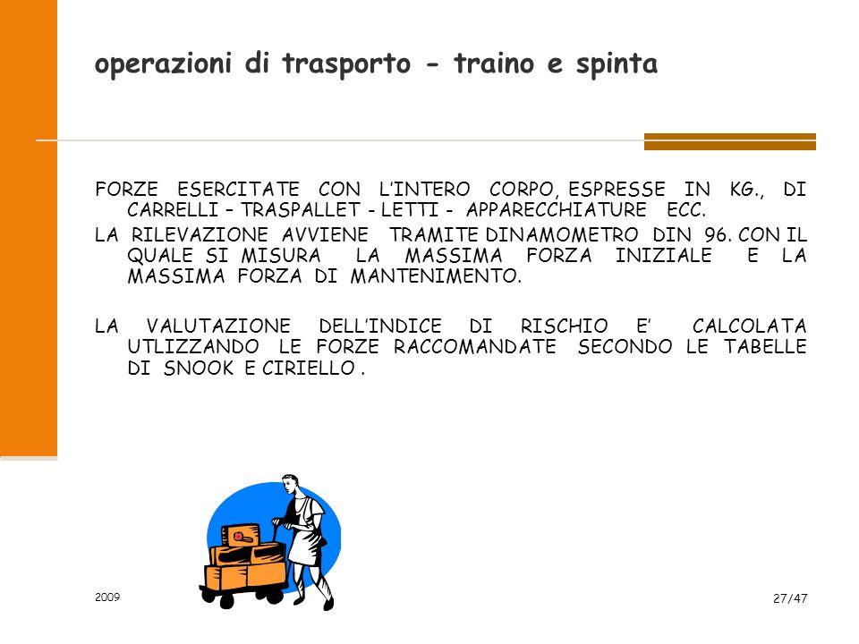 operazioni di trasporto - traino e spinta