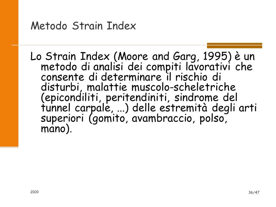 Metodo Strain Index