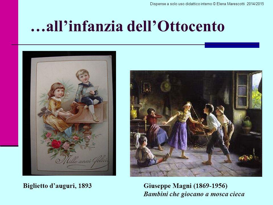 …all'infanzia dell'Ottocento