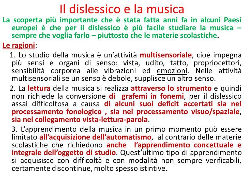 Il dislessico e la musica