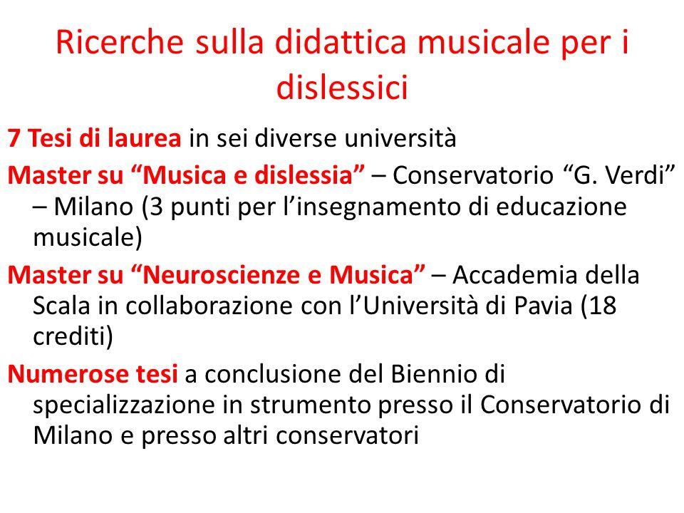 Ricerche sulla didattica musicale per i dislessici