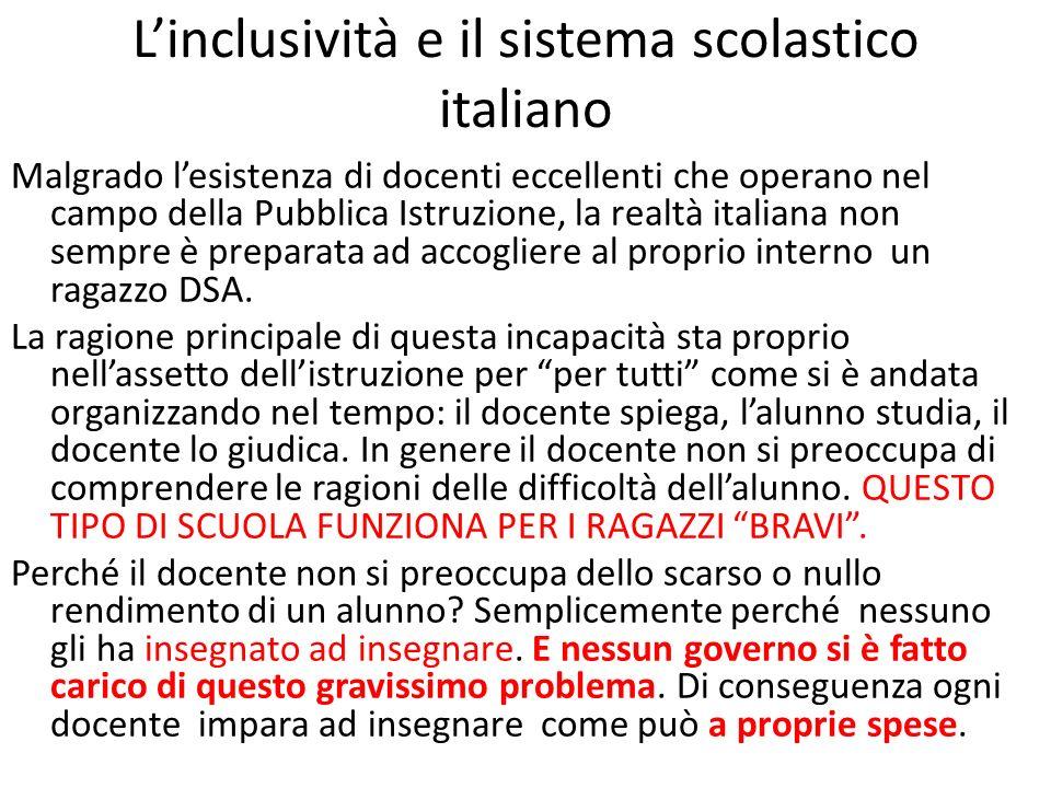 L'inclusività e il sistema scolastico italiano