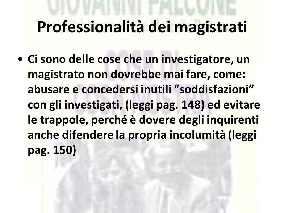 Professionalità dei magistrati