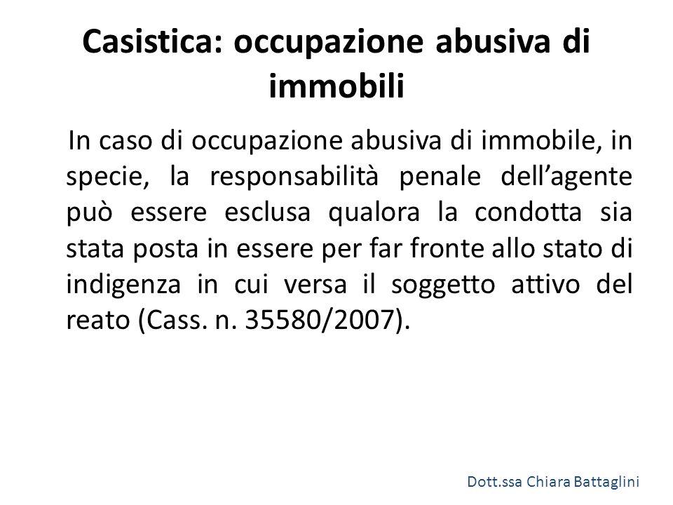 Casistica: occupazione abusiva di immobili